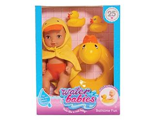 Solo Juega Waterbabies Bath Time Fun Duckie Baby Doll