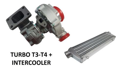 Kit Turbo Universal T3 T4 T04e + Intercooler 400+ Hp Stage 3
