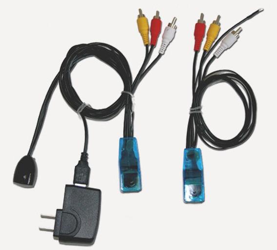 Transmissor Receptor Rca Rede Utp Controle Remoto Câmera Dvr