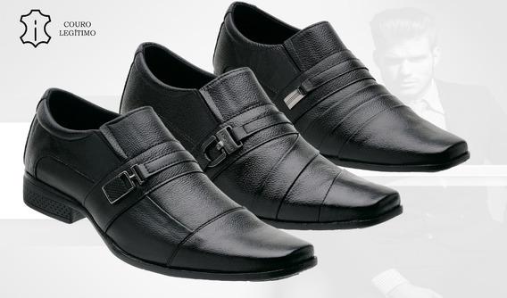 Kit 3 Sapatos Social Masculino Couro * Frete Grátis *top 01