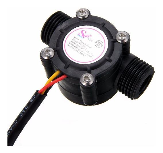 Sensor De Fluxo Ou Vazao De Agua 1/2 1-30l/min Arduino Esp32