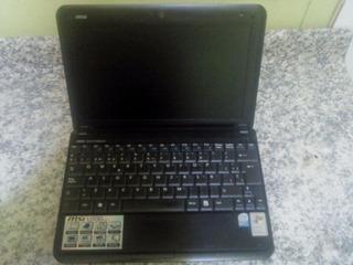 Netbook Msi U100 U120 1gb Ram 160gb Disco Bateria Ok
