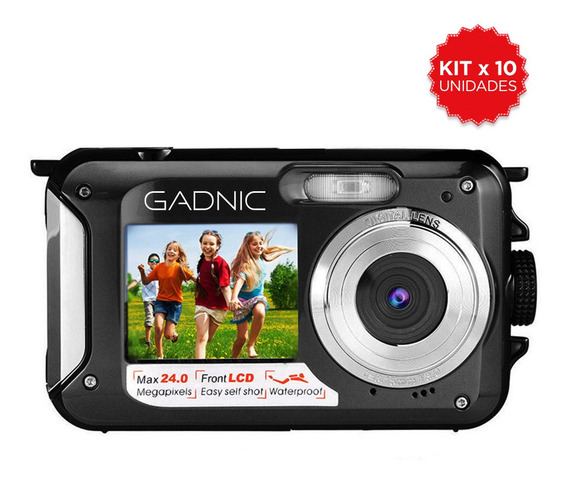 Camara Digital Sumergible Gadnic Dustproof Doble Lcd Selfie