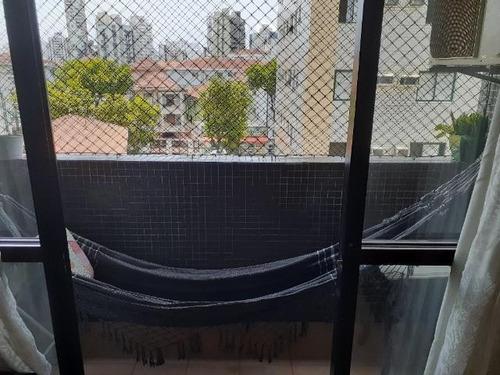 Apartamento Com 2 Dormitórios À Venda, 94 M² Por R$ 510.000,00 - Embaré - Santos/sp - Ap0214