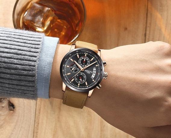 Relógio - Nibosi - Original - Funcional - 42mm - Em Estoque