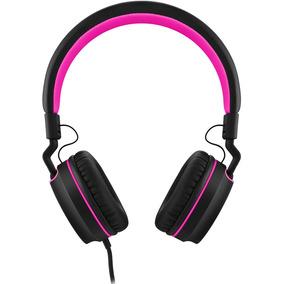 Headphone On Ear Stereo Preto/rosa - Pulse - Ph160