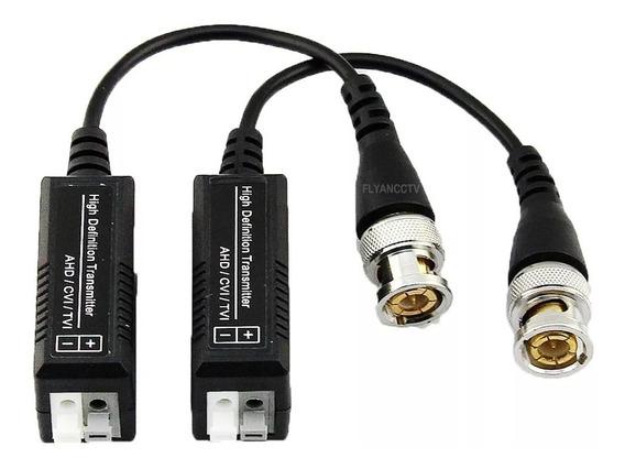 Kit 4 Par Conector Video Balun Engate Rapido Cameras Hd Cvi Tvi