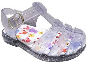 Sandália Aranha Bebê Tamanho 23-24 Menina Glitter Com Led