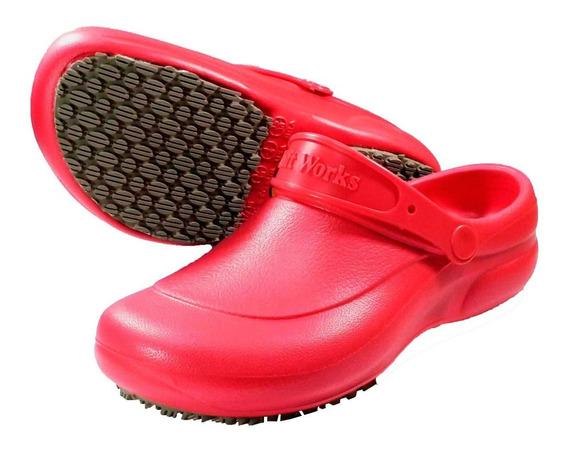 Sapato Feminino Eva Antiderrapante Enfermagem Cozinha Bb60