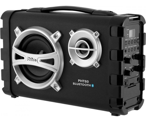 Caixa Som Philco 80w Bateria Usb Fm Bluetooth Pht80 Bivolt