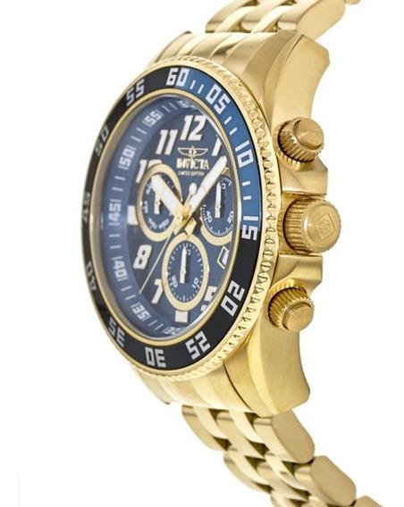 Liquidação Relógio Invicta Original Dourado Banhado A Ouro
