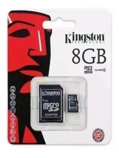 Cartão Memória Kingston Micro Sd 8gb C/ Nota Fiscal Original