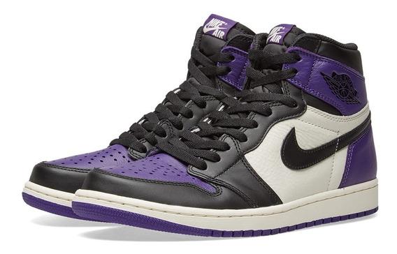 Nike Air Jordan 1 Court Purple 42 Novo Sem Juros 1800av