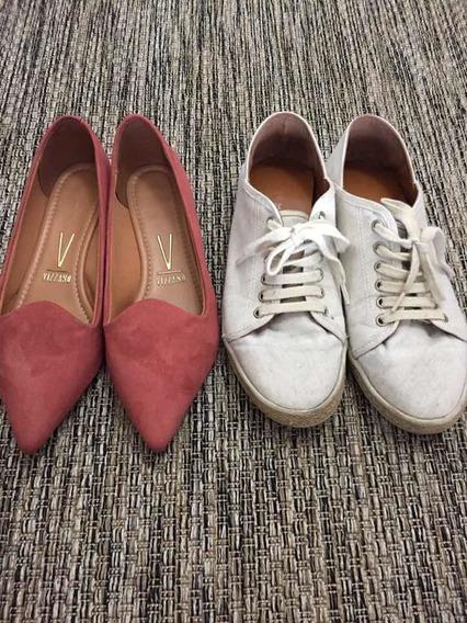 Sapatos Femininos Kit Com Dois Pares