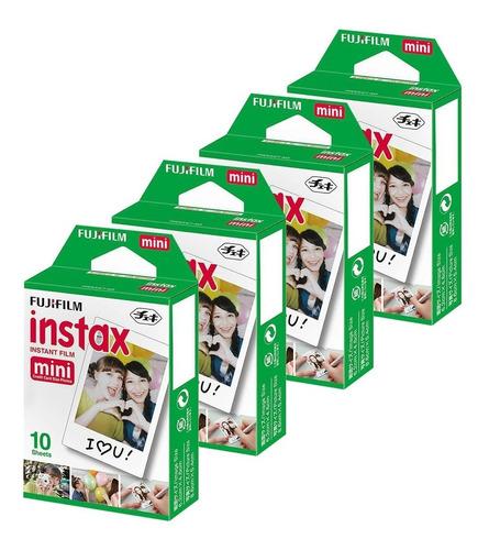 Kit Filmes Instax 40 Fotos Camera Mini Link Fujifilm 11 9 8