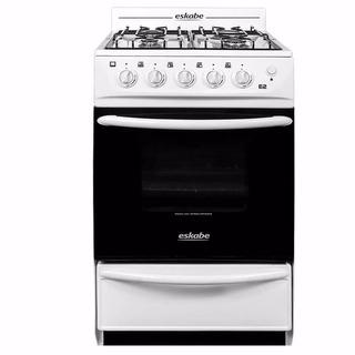 Cocina A Gas Eskabe E2 Bc Blanca 52cm Multiconveccion