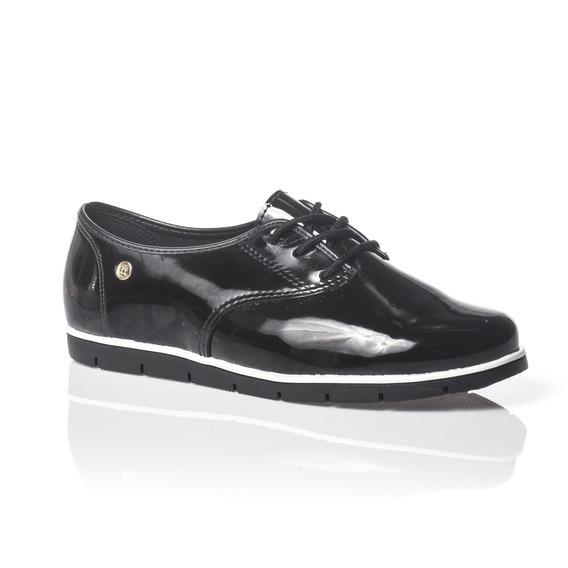 Moleca Sapato 5613304 Oxford Verniz Premium Preto