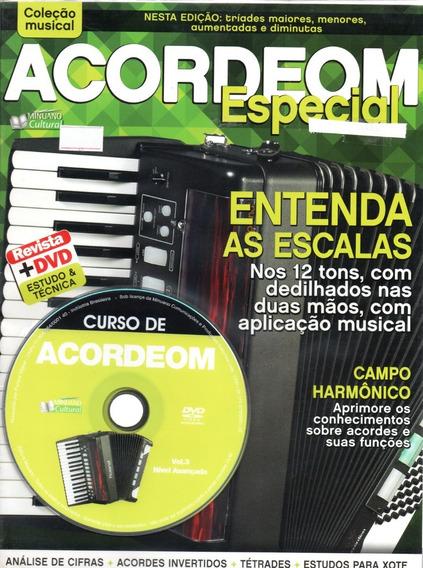 Curso De Acordeom Vol. 3 - Nível Avançado - Revista+dvd