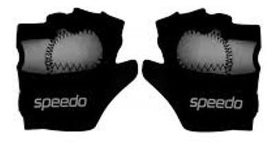 Luva De Musculação Speedo Power Glove Preto