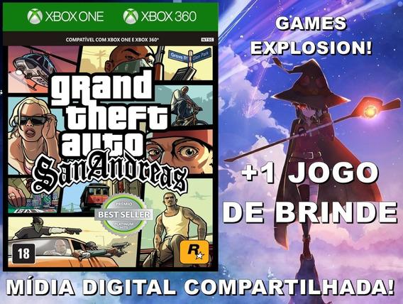 Gta San Andreas Xbox 360/ One +1 Jogo - Mídia Digital