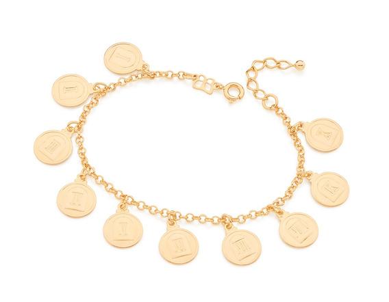 Pulseira Elo Português Folheado Ouro Rommanel 551522