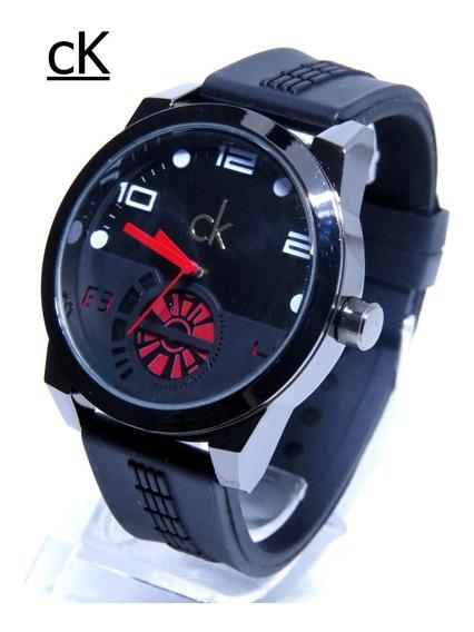 Relógio Zeus Venon Ck Black Masculino Grande Original Barato