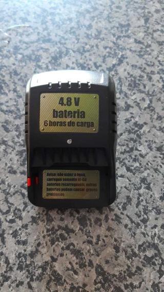 Carregador 4.8v P/ Bateria Com Contatos Laterais