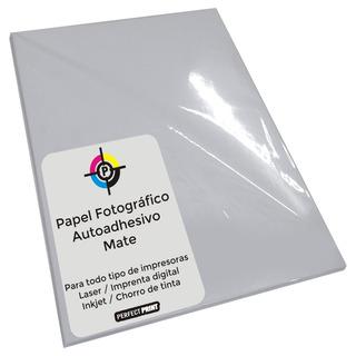 Papel Fotografico Autoadhesivo A4 Mate 100 Hojas 110gr Apto Impresoras Inkjet Y Laser