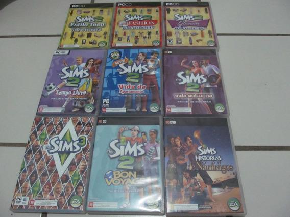 Jogo The Sims 2 - Pc Dvd - Coleção Com 7 Jogos Originais
