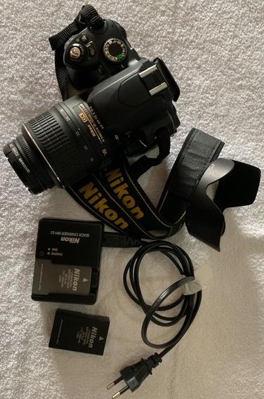 Camera Nikon D60 C/ Afs Nikkor 18 55mm 1:3.5-5.6g E Assessor