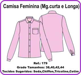 Molde Camisa Feminina (mg.curta E Longa) 179