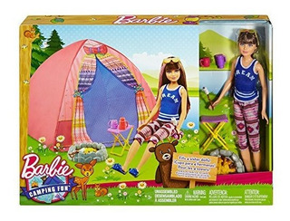 Barbie Camping Fun Tent, Skipper Doll And Accessories - Nuev
