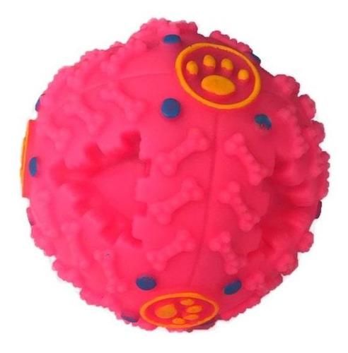 Imagem 1 de 3 de Bola Mordedor Petisco Pet Para Cachorros Interativa Rosa