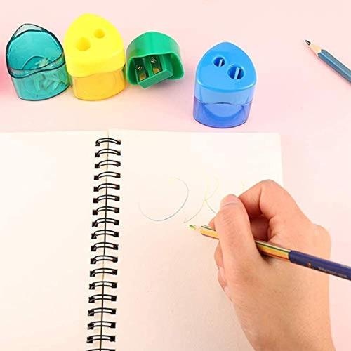 Sacapuntas de l/ápiz de colores surtidos un agujero sacapuntas para oficina y escuela 10PCS