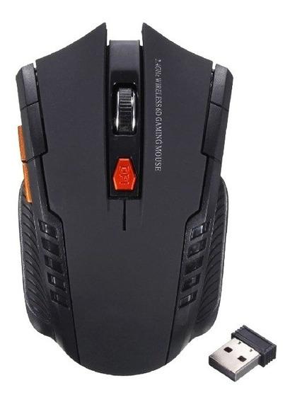 Mouse Gamer Usb 2.4 Ghz 6 Botões Sem Fio 2000 Dpi