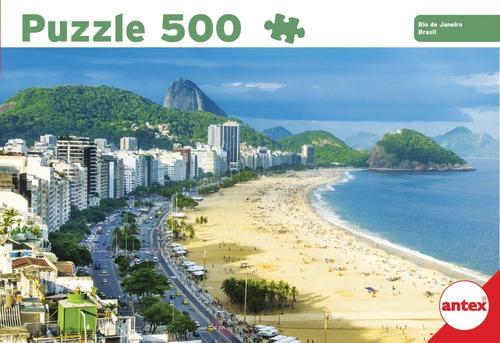 Imagen 1 de 3 de Puzzle 500 Pzs Rio De Janeiro Brasil Rompecabezas Antex 3058