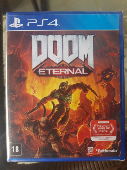 Doom Eternal Ethernal Ps4 Mídia Física Novo E Original