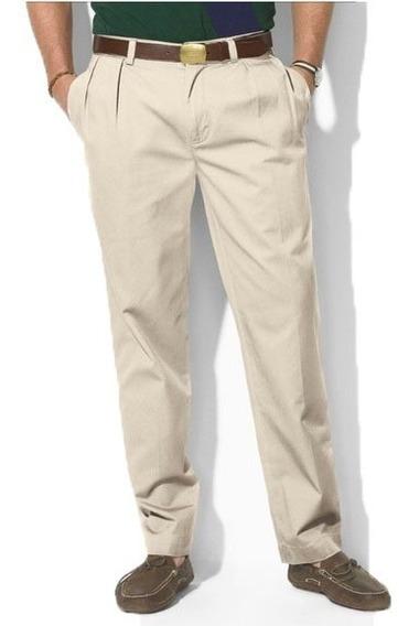 Pantalon Ralph Lauren Casual 46 X 34 Classic Pleated Fit