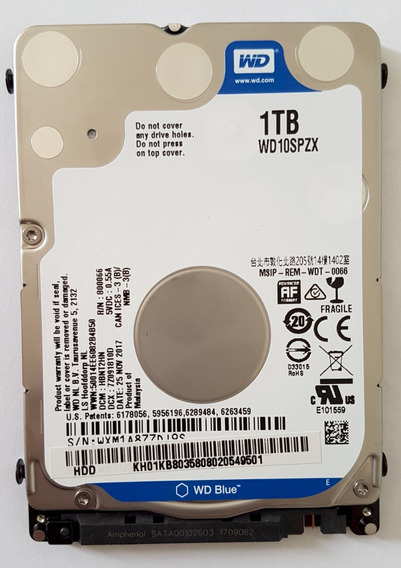 Hdd P/ Notebook Wd Blue 1 Tb - Wd10spzx