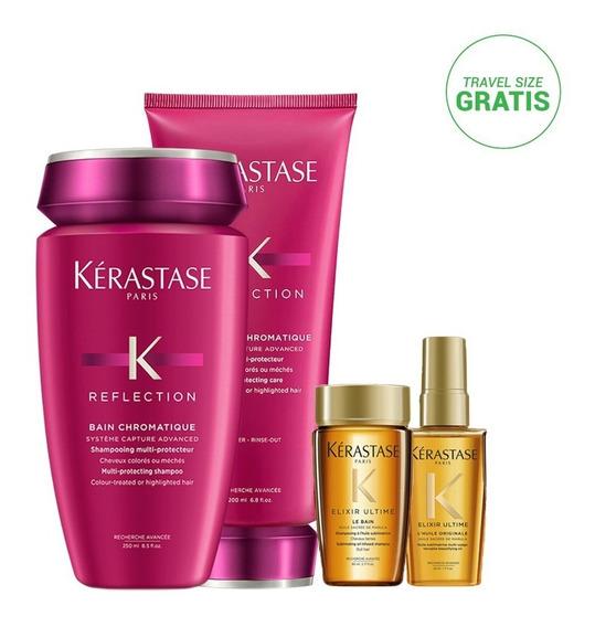 Kit Kérastase Chromatique: Shampoo + Acondicionador + Travel