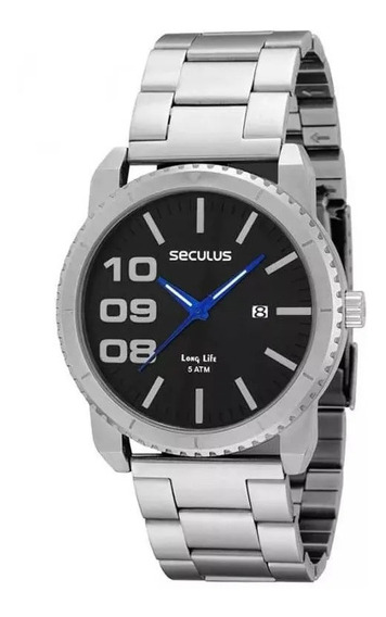 Relógio Masculino Seculus 60621g0sbna1 Usado- Leia O Anúncio