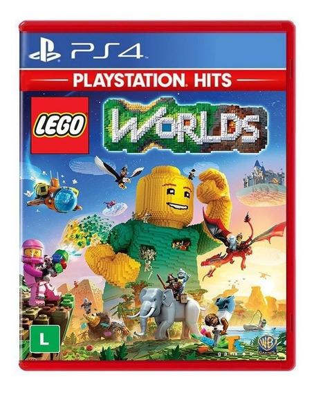 Lego Worlds Ps4 Jogo Mídia Física Português Dublado Lacrado