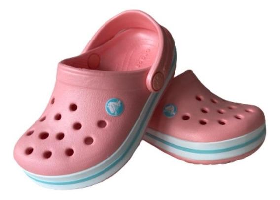 Crocs Infantil Kids Crocband Pêssego 100% Original