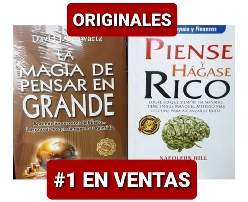 Piense Y Hágase Rico + La Magia De Pensar En Grande Original