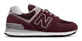 Tênis New Balance 574 Classics Camurça Nb - Vinho Original