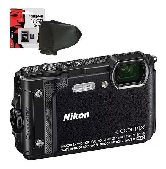 Camara Nikon W300 Sumergible 4k Anti Golpe Wifi+ Bolso+ 32gb