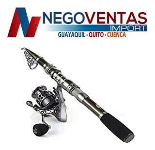 Caña De Pescar Telescopica 3 Y 4,1 Metros Con Carrete