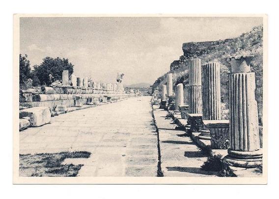 Antigua Postal Foto Las Ruinas De Efesus Turquia 551