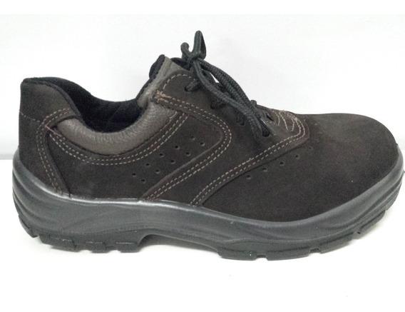Sapato De Proteção 3301 Nobuck Marrom