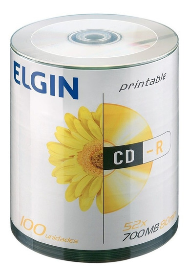 Cd-rom Elgin Midia 80min 52x Pino 100